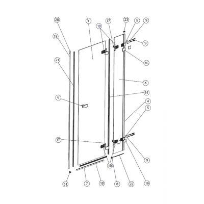 Koło Next profil ścienny PVC na listwę magnetyczną A170128