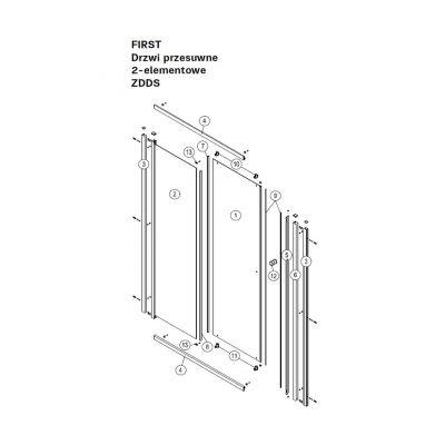 Koło First uszczelka zgarniacz drzwi A190004