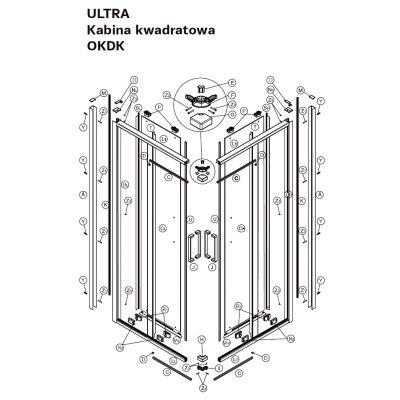 Koło Ultra zawieszka górna A200127