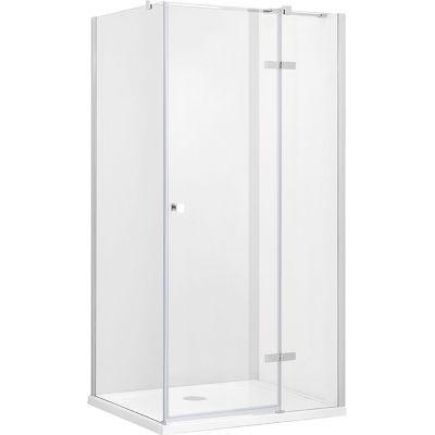 Besco Pixa kabina prysznicowa 90x90 cm kwadratowa prawa szkło przezroczyste PKP-90-195-C