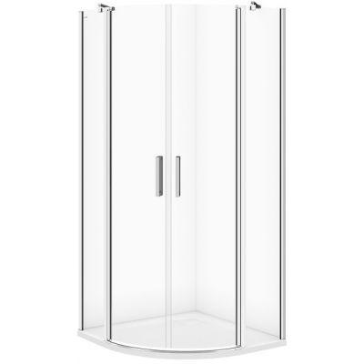Cersanit Moduo kabina prysznicowa 90 cm półokrągła szkło przezroczyste S162-010