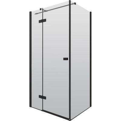 Deante Arnika kabina prysznicowa 100x80 cm prostokątna czarny/szkło przezroczyste KQA046P