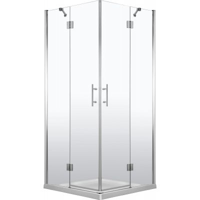 Deante Abelia kabina prysznicowa 90 cm kwadratowa chrom/szkło przezroczyste KTA043P
