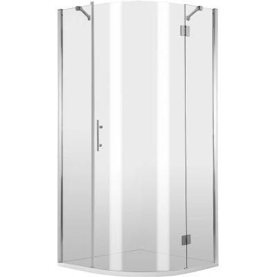 Deante Abelia kabina prysznicowa 90 cm półokrągła prawa chrom/szkło przezroczyste KTA057P
