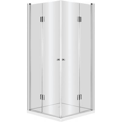 Deante Kerria kabina prysznicowa 80 cm kwadratowa chrom/szkło przezroczyste KTK042P