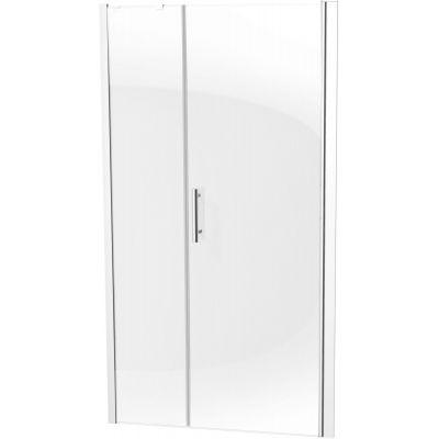 Deante Moon drzwi prysznicowe 120 cm wnękowe chrom/szkło przezroczyste KTM014P