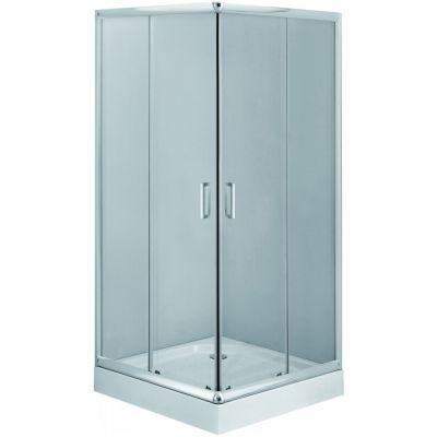 Deante Funkia kabina 90 cm kwadratowa chrom/szkło przezroczyste KYC041K