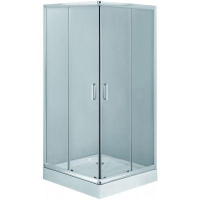 Deante Funkia kabina prysznicowa 80 cm kwadratowa chrom/szkło przezroczyste KYC042K