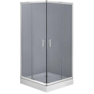 Deante Funkia kabina prysznicowa 90x90 cm kwadratowa szkło grafitowe KYC441K