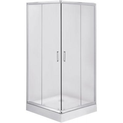 Deante Funkia kabina prysznicowa 90 cm kwadratowa chrom/szkło szronione KYC641K