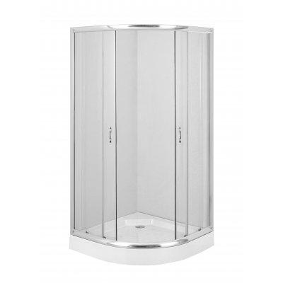 Deante Funkia kabina prysznicowa 90x90 cm półokrągła szkło transparentne KYP051K