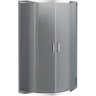 Deante Funkia kabina prysznicowa 90x90 cm półokrągła szkło grafitowe KYP451K