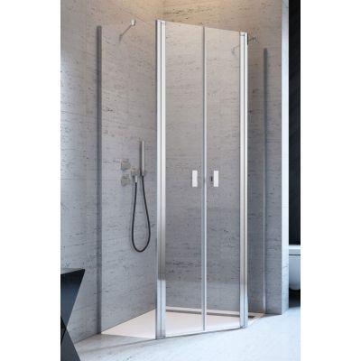 Radaway Nes PTD kabina prysznicowa 80x80 cm pięciokątna chrom/szkło przezroczyste 10051000-01-01/10051400-01-01