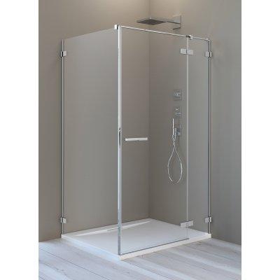 Radaway Arta KDJ II drzwi prysznicowe 110 cm ze ścianką stałą prawe 386457-03-01R/386040-03-01R