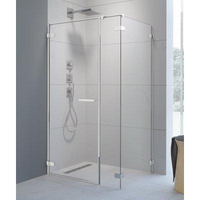 Radaway Arta KDS I drzwi prysznicowe 90 cm ze ścianką stałą lewe 386520-03-01L/386100-03-01L