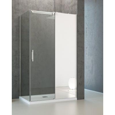 Radaway Espera KDJ Mirror drzwi jednoczęściowe 100 cm prawe ze ścianką 380495-01R/380230-71R