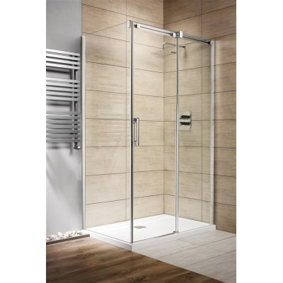 Radaway Espera KDJ drzwi jednoczęściowe 100 cm prawe ze ścianką 380495-01R/380230-01R