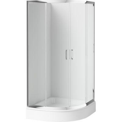 Deante Funkia kabina prysznicowa 80 cm półokrągła chrom/szkło przezroczyste KYP052K