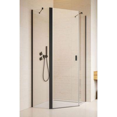 Radaway Nes Black PTJ  kabina prysznicowa 80x80 cm lewe czarny/szkło przezroczyste 10052000-54-01L/10052500-54-01