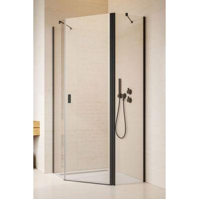 Radaway Nes Black PTJ kabina prysznicowa 80x80 cm prawa czarny/szkło przezroczyste 10052000-54-01R/10052500-54-01