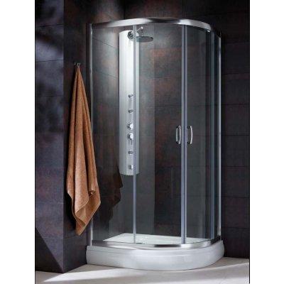 Radaway Premium Plus E 1900 kabina prysznicowa 90x80 cm półokrągła asymetryczna 30492-01-06N
