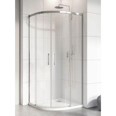 Radaway Idea PDD kabina prysznicowa 100 cm półokrągła szkło przezroczyste 387139-01-01/387142-01-01