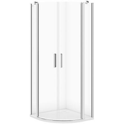 Cersanit Moduo kabina prysznicowa 80 cm półokrągła szkło przezroczyste S162-009