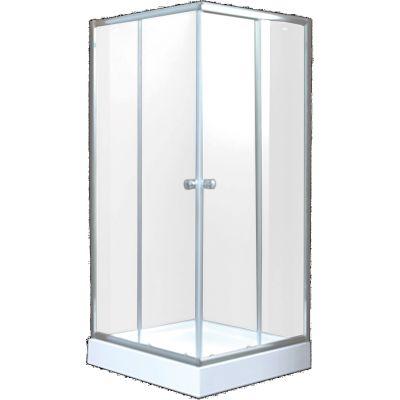 Invena Parla kabina prysznicowa 90 cm kwadratowa szkło przezroczyste AK-48-195-O