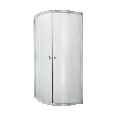 Invena Marbella kabina prysznicowa 90x90 cm półokrągła szkło mrożone AK-46-191
