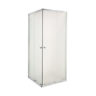 Invena Parla kabina prysznicowa 80 cm kwadratowa szkło przezroczyste AK-48-185