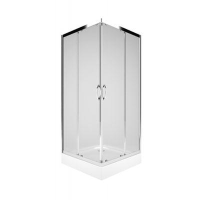 Koło Rekord kabina kwadratowa 90 cm szkło przezroczyste PKDK90222003