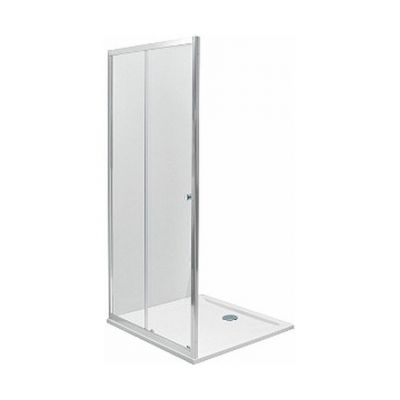 Koło First drzwi prysznicowe 120 cm wnękowe 2-elementowe szkło przezroczyste ZDDS12222003