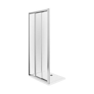 Koło First drzwi prysznicowe 90 cm wnękowe 3-elementowe szkło satyna ZDRS90214003