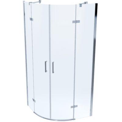 Massi Sorata kabina prysznicowa 90 cm półokrągła szkło przezroczyste MSKP-SO-001900