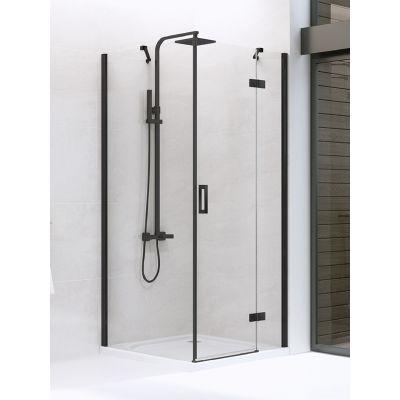New Trendy New Renoma Black kabina prysznicowa 90x80 cm prawa szkło przezroczyste D-0202A/D-0111B