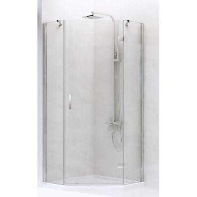 New Trendy New Azura kabina prysznicowa 90x90 cm pięciokątna prawa szkło przezroczyste K-0338