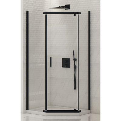 New Trendy New Komfort Black kabina prysznicowa 90x90 cm pięciokątna szkło przezroczyste K-0472