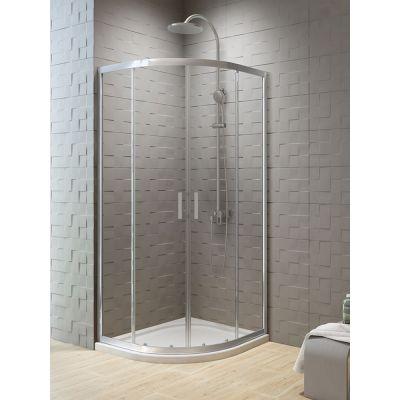 New Trendy New Varia kabina prysznicowa 90x90 cm półokrągła szkło przezroczyste K-0499