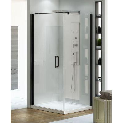 New Trendy Negra kabina prysznicowa 80 cm kwadratowa szkło przezroczyste EXK-1193/EXK-1194