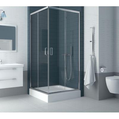 New Trendy Feria kabina prysznicowa 90x90 cm z brodzikiem kwadratowa szkło przezroczyste ZF-0026