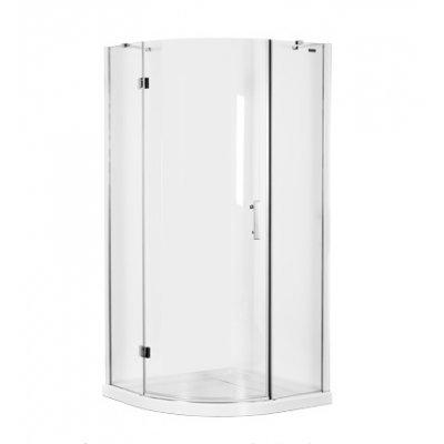 Omnires Manhattan kabina prysznicowa półokrągła 80x80 cm szkło przezroczyste ADF80XCRTR