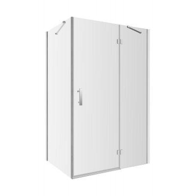 Omnires Manhattan kabina prysznicowa kwadratowa 90x90 cm chrom/ transparentne ADC90X