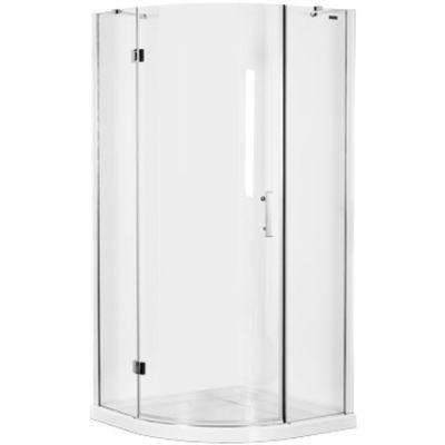 Omnires Manhattan kabina prysznicowa 90x90 cm półokrągła szkło przezroczyste ADF90XLUX-TCRTR