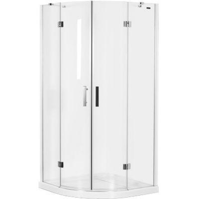 Omnires Manhattan kabina prysznicowa 90x90 cm półokrągła szkło przezroczyste ADF94XLUX-TCRTR
