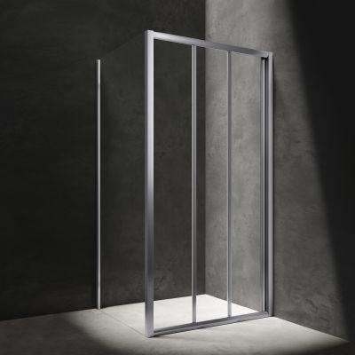 Omnires Bronx kabina prysznicowa 100x80 cm chrom/szkło przezroczyste BR1080CRTR