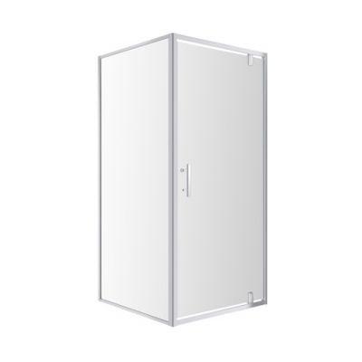 Omnires S90 kabina prysznicowa kwadratowa szklana, uchylna 90x90x185 cm chrom/ transparentne S S-90KCRTR
