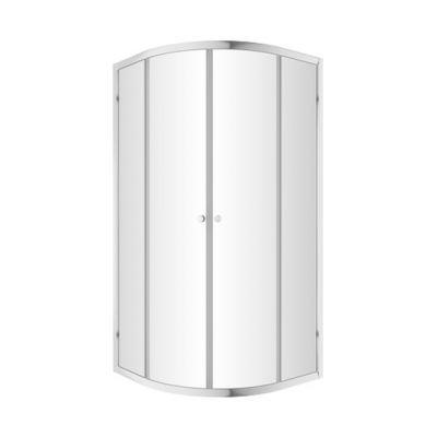 Omnires Bronx kabina prysznicowa 90x90 cm półokrągła szkło przezroczyste S203090CRTR