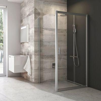 Ravak Blix BLDP2-110 drzwi prysznicowe 110 cm przesuwne polerowane aluminium/grafit 0PVD0C00ZH