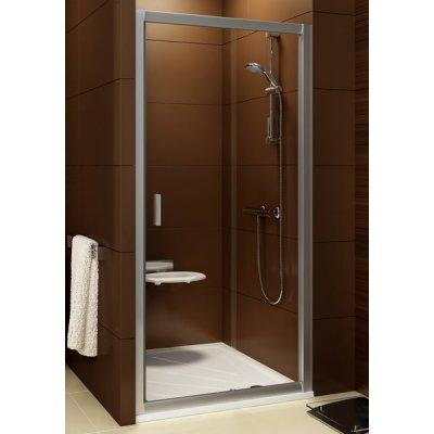 Ravak Blix drzwi prysznicowe przesuwne satyna + transparent BLDP2-120 0PVG0U00Z1