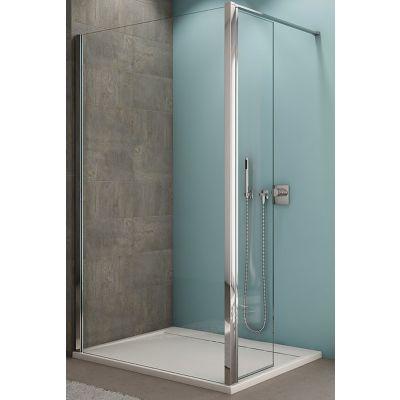 SanSwiss ścianka boczna 43.7 cm krótka z zestawem montażowym srebrny mat/szkło przezroczyste BTK22 BTK2204370107